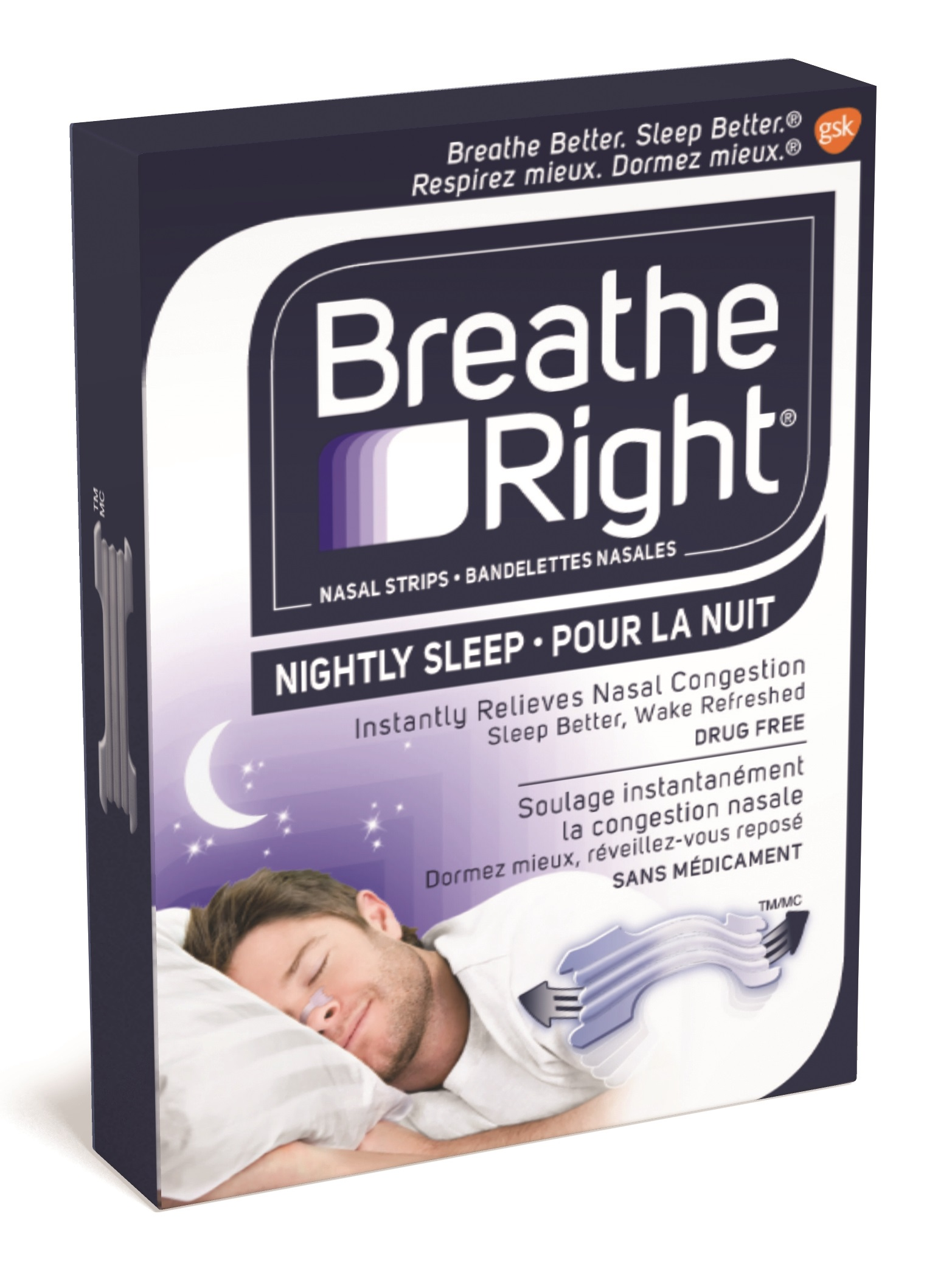 A new box of Breathe Right Nightly Sleep nasal strips